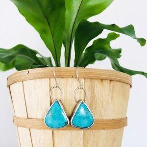 Arizona Kingman Turquoise Fauverie Earrings